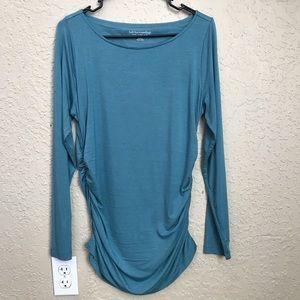 Soft surroundings teal shorted soft shirt medium